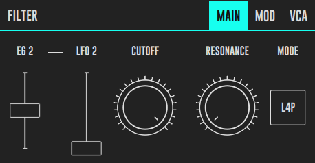 DRC Filter control