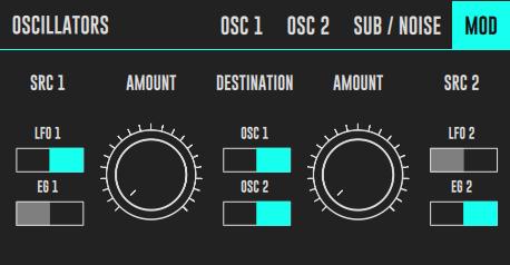 DRC Oscillators Modulation Tab