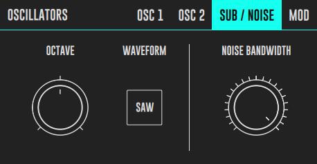 DRC Sub/Noise Oscillator Panel