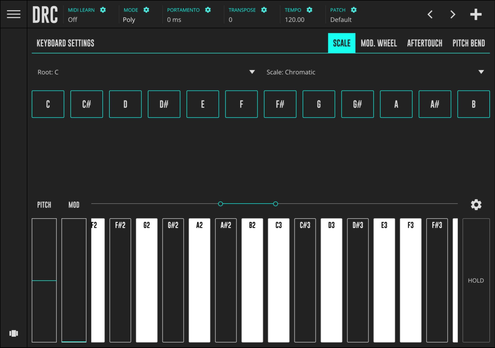 DRC Full Piano Keyboard