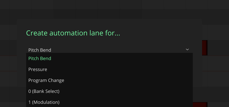LK Matrix Module composer automation lane selection